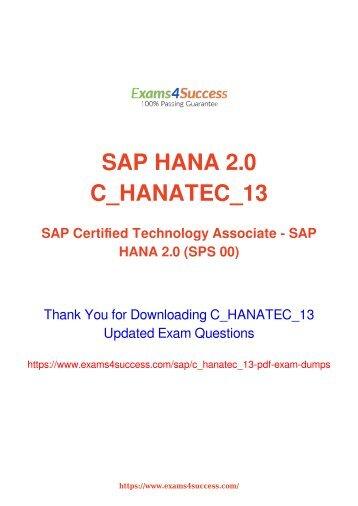 SAP C_HANATEC_13 Exam Dumps [2018 NOV] - 100% Valid Questions