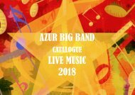 Catalogue AZUR BIG BAND 2018