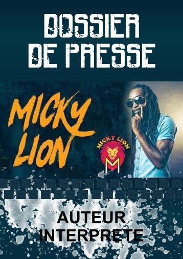 DOSSIER DE PRESSE MICKY LION