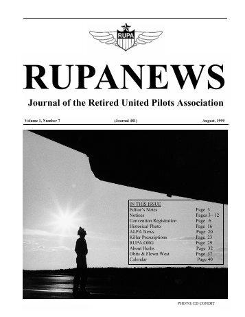 rupanews - RUPA - Retired United Pilots Association