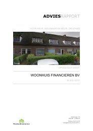 Definitief Adviesrapport Woonhuisfinancieren 30-7-2017