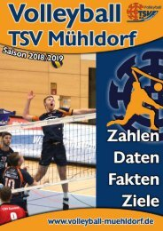 Volleyball Saisonheft 2018 2019