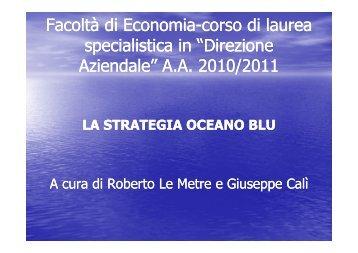 Oceano Blu - slides - Dinamiche di settore e modelli di business