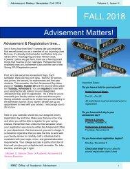 Advisement Matters FA18