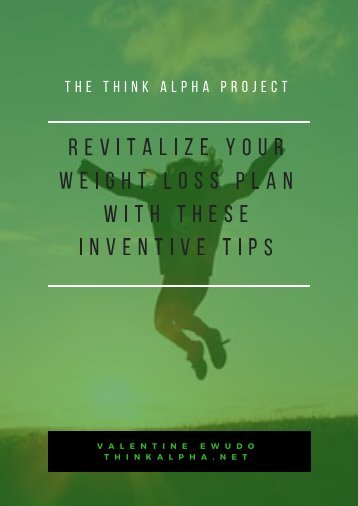 Revitalize Your Weight Loss Plan With These Inventive Tips