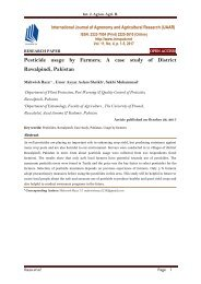 Pesticide usage by Farmers; A case study of District Rawalpindi, Pakistan