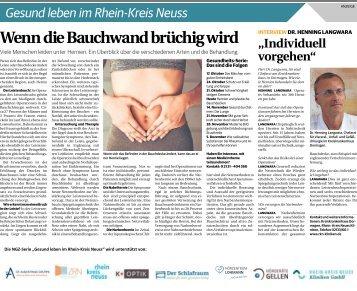 Gesund leben im Rhein-Kreis Neuss  -07.11.2018-