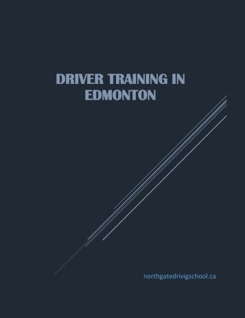 Driver training in Edmonton isn