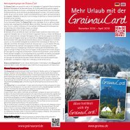 Informationsflyer GrainauCard bis April 2019