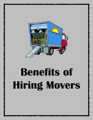 Benefits of Hiring Movers