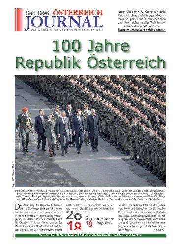 Österreich Journal Ausgabe 179