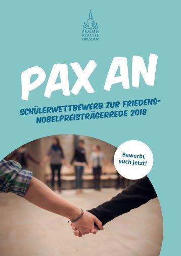 pax AN - Schülerwettbewerb zur Friedensnobelpreisträgerrede 2018
