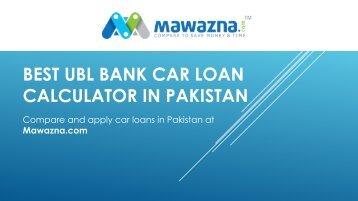 UBL Car Loan Calculator