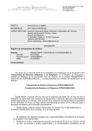 Transportista de residuos Navarra 2018