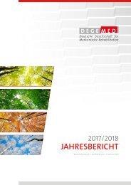 DEGEMED-Jahresbericht 2017/2018