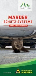 Gardigo Flyer Marderschutzsystem