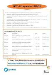 NQT+1 Programme flyer 2018-19