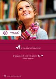 Fachassistent Lohn und Gehalt 2019