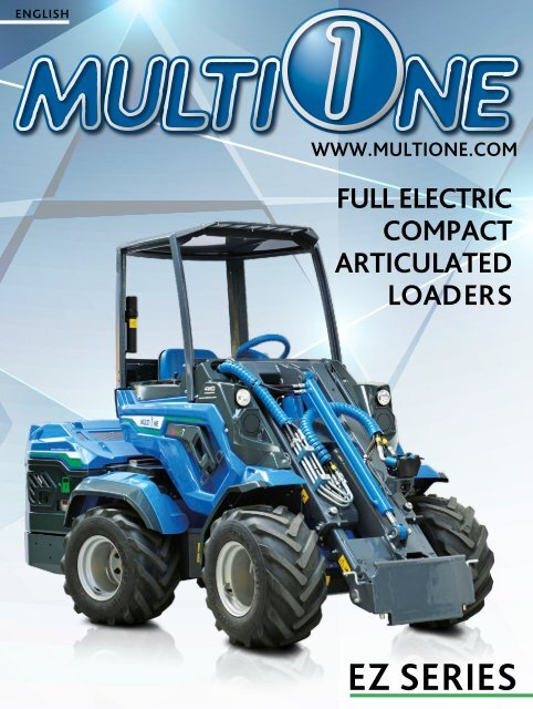 FULL ELECTRIC COMPACT ARTICULATED LOADERS: EMISSION ZERO MULTIONE
