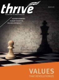 Thrive magazine   Autumn 2016