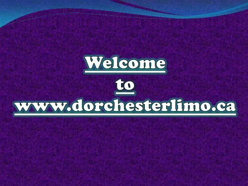 Limousine Services in London at Dorchester Limo
