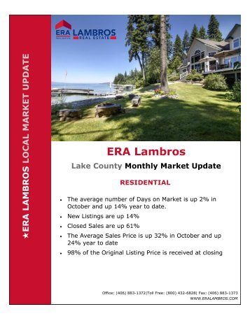 Lake County Residential Market Update - October 2018