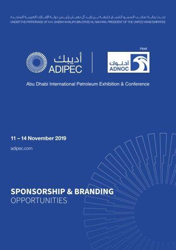 ADIPEC 2019 Sponsorship Brochure