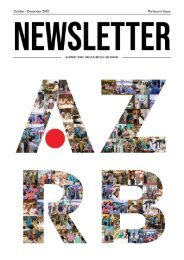 AZRB Newsletter - Re-launch Issue