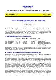 Merkblatt der Arbeitsgemeinschaft Getreideforschung e. V. , Detmold ...