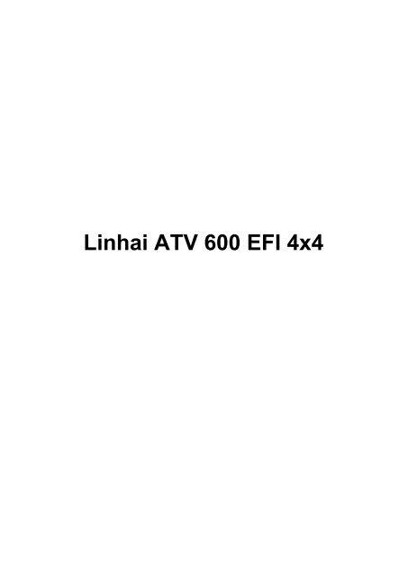 Linhai 600 Service Manual