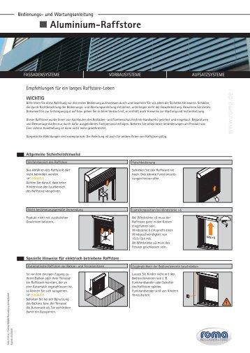 w w w .rom a.de Aluminium-Raffstore - BREIN-Bauelemente Startseite