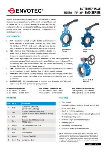 Butterfly Valve_EMD Series