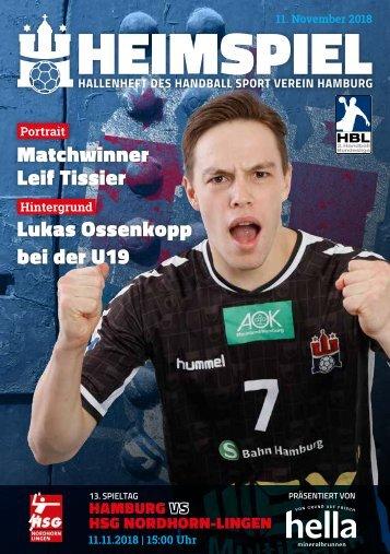 Hallenheft | Handball Sport Verein Hamburg – HSG Nordhorn-Lingen