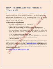 How To Enable Auto-Mail Feature In Yahoo Mail?