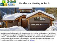 Best Geothermal Heating For Pools