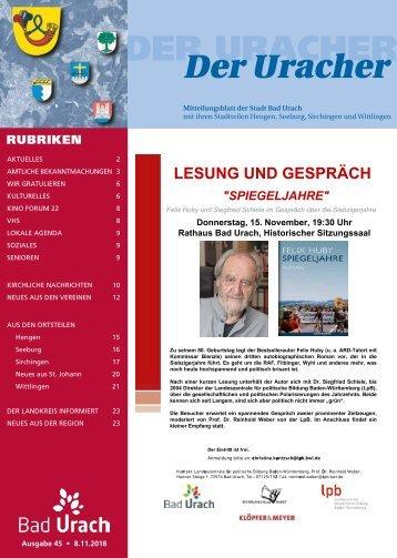 Der Uracher KW 45-2018