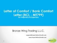 How to avail Bank Comfort Letter