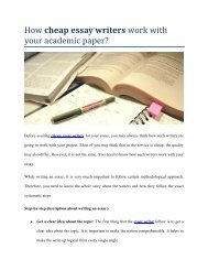 How Essay Writers Work With Your Essay Papers
