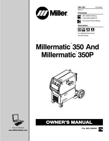 miller big blue 600x manual