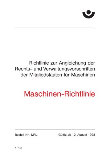 MRL Maschinen-Richtlinie - Kettenfabrik Unna GmbH & Co. KG