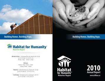 Annual Report - Habitat for Humanity