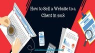 CairoCorps - How to Sell a Website to a Clients in 2018