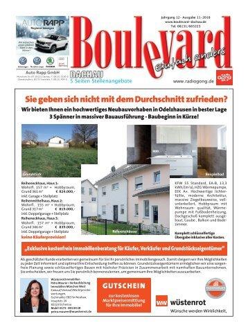 Boulevard Dachau Druck Ausgabe November 2018