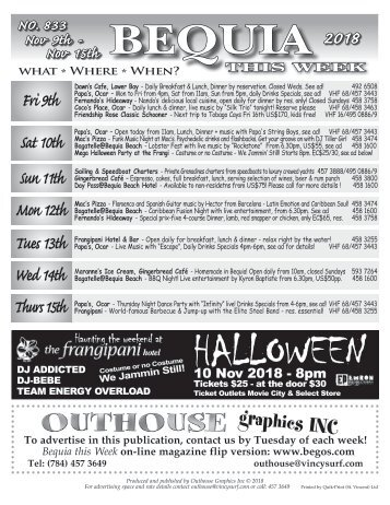 Bequia this Week - November 9th - 15th