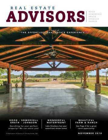 The Real Estate Advisors Magazine - November 2018