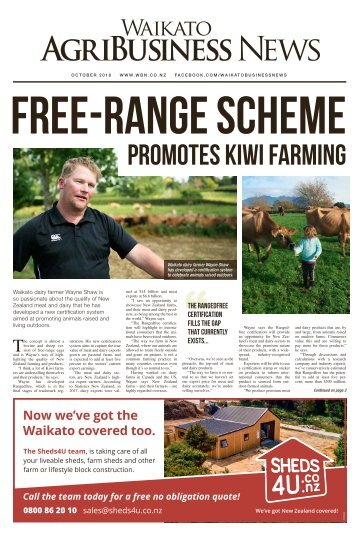 Waikato AgriBusiness News October 2018