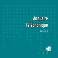 Annuaire téléphonique - Ville de Genève