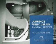 Lawrence Public Library – Annual Report FY18