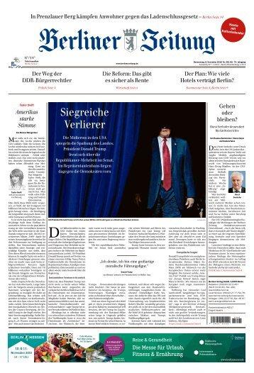 Berliner Zeitung 08.11.2018