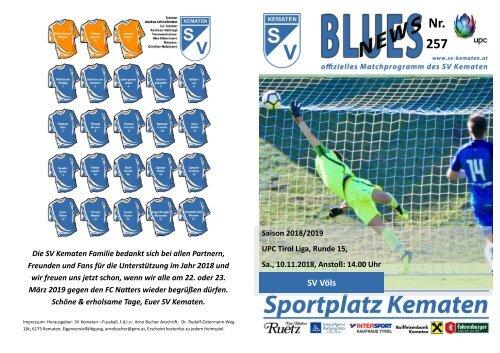 Blues News 257: Derby SV Völs